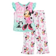 "Disney's Minnie Mouse Toddler Girl ""Smile in Style"" Top & Bottoms Pajama Set"