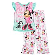 Disney's Minnie Mouse Toddler Girl 'Smile in Style' Top & Bottoms Pajama Set