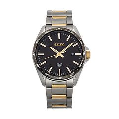 Seiko Men's Two Tone Stainless Steel Solar Watch - SNE485