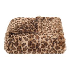 Safavieh Leopard Print Faux Fur Throw