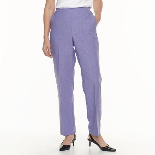 Women's Alfred Dunner Studio Pull-On Straight Leg Pants