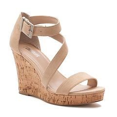 Style Charles by Charles David Lawley Women's T-Strap Wedge Sandals