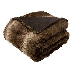Safavieh Luxe Brick Faux Fur Throw