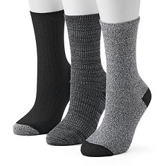 Women's Cuddl Duds 3-Pack Space-Dyed Crew Socks