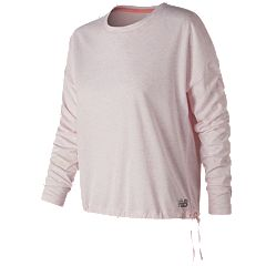 Women's New Balance Heather Tech Long Sleeve Shirt