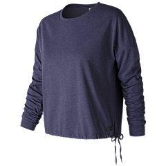 Women's New Balance Heather Tech Long Sleeve Shirt
