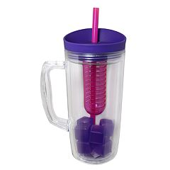 Wellness 34-oz. Workout Bottle with Ice Cubes, Infuser & Straw