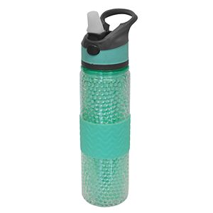 Wellness 18-oz. Freezer Gel Beaded Water Bottle with Straw