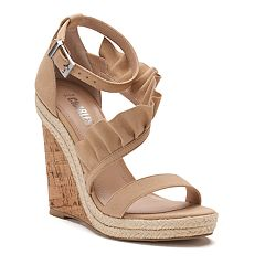 Style Charles by Charles David Beauty Women's Ruffled Wedge Sandals