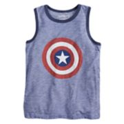 "Boys 4-10 Jumping Beans® Marvel Captain America Shield & ""Hero"" Tank Top"