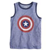 "Boys 4-10 Jumping Beans® Marvel Captain America Shield & ""Hero"" Tank Top"