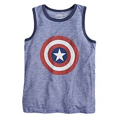 Boys 4-10 Jumping Beans® Marvel Captain America Shield & 'Hero' Tank Top