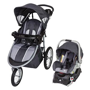 Green Jogging Stroller Car Seat Combo Baby Trend Run Travel Carriage Black Walk
