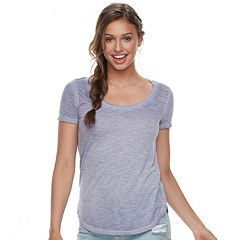 Juniors' Mudd® Slubbed Scoopneck Tee