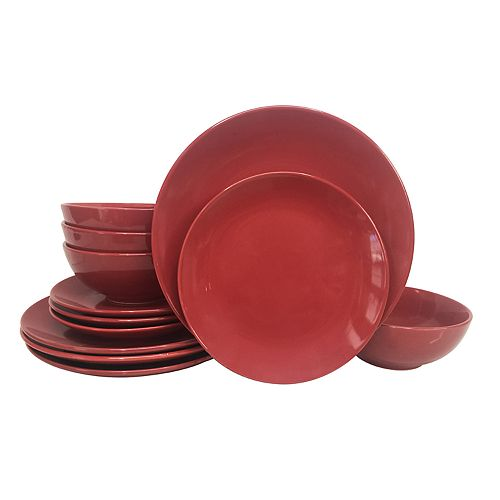 The Big One® Solid Coupe 12-piece Dinnerware Set