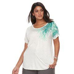 Plus Size Apt. 9® Crewneck Short Sleeve Top