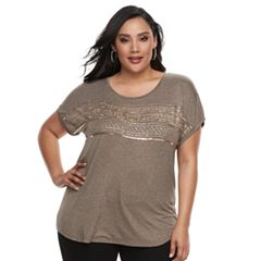 Plus Size Apt. 9® Crewneck Short Sleeve Top