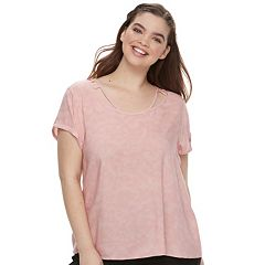 Juniors' Plus Size SO® Cold-Clavicle Tee