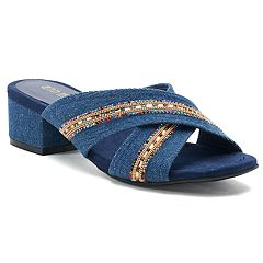 Ann Marino Zip Me Up Women's Mules