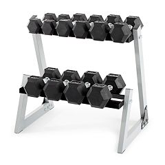Weider 200-Pound Dumbbell Kit with Rack