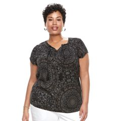 Plus Size SONOMA Goods for Life™ Pintuck Tee