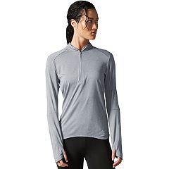Women's adidas Response 1/2-Zip Long Sleeve Tee