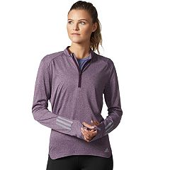 Women's adidas Response 1/2-Zip Long Sleeve Tee