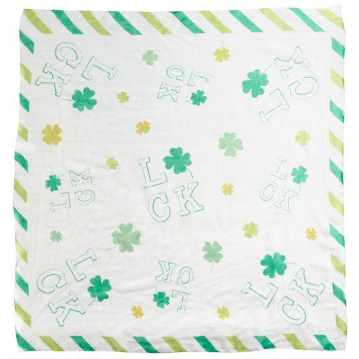 St. Patrick's Day Shamrocks & Luck Square Scarf