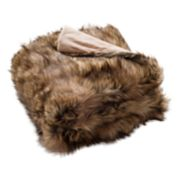 Safavieh Golden Noir Faux Fur Throw