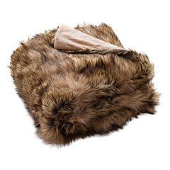 Safavieh Golden Noir Faux Fur Throw