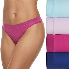 Women's Fruit of the Loom 4-pack Signature Everlight Thong Panty 4DELSTH
