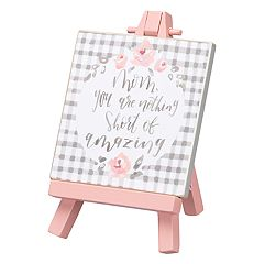 Floral 'Mom' Easel Table Decor