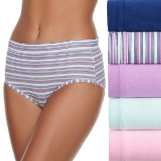 Women's Fruit of the Loom 5-pack Cotton-Blend Stretch Low Rise Brief Panty 5DCSSLB