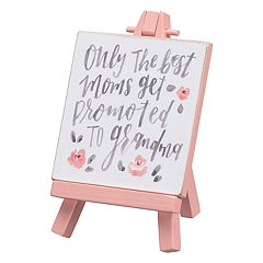 'Promoted To Grandma' Easel Table Decor