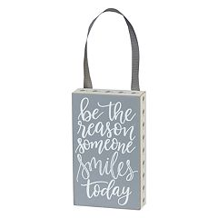 'Be The Reason Someone Smiles' Box Sign Art