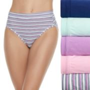 Women's Fruit of the Loom 5-pack Cotton-Blend Stretch Hi Cut Panty 5DCSSHC