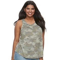 Juniors' Plus Size Mudd® Slubbed Tank