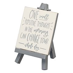 'One Positive Thought' Easel Table Decor