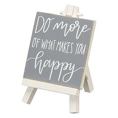 'Makes You Happy' Easel Table Decor