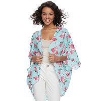 Juniors' Miss Chievous Floral Kimono