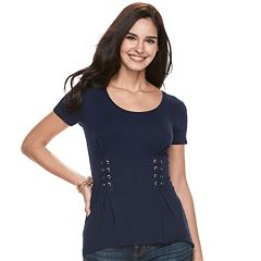 Women's Rock & Republic® Lace-Up Corset Top