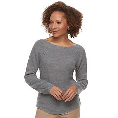 Petite Croft & Barrow® Transfer Stitch Sweater