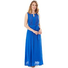 Petite Apt. 9® Gauze Crochet Maxi Dress