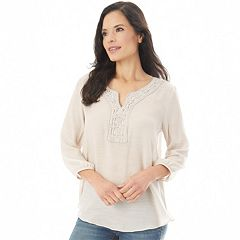 Petite Apt. 9® Embroidered Peasant Top