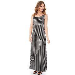 Petite Apt. 9® Mixed Stripe Maxi Dress