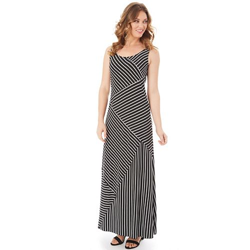 Petite Apt 9 Mixed Stripe Maxi Dress