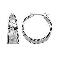 Napier Wavy Nickel Free Hoop Earrings
