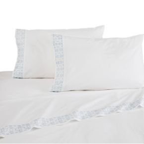 Dena Home Embroidered Percale Sheet Set