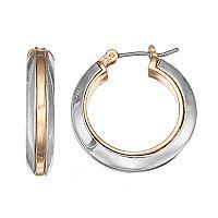 Napier Two Tone Nickel Free Hoop Earrings