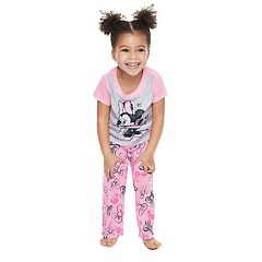 Disney's Minnie Mouse Toddler Girl Minnie Tee & Bow Bottoms By Jammies For Your Families